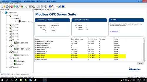 Modbus OPC Server - Kinemics